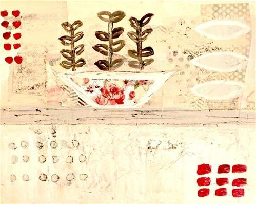 "Daily Paintworks - ""Rose Bowl"" - Original Fine Art for Sale - © Robin Norgren"