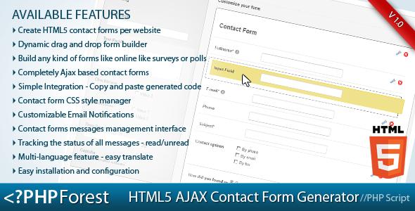 Html Ajax Contact Form Generator  Html Ajax Contact Form