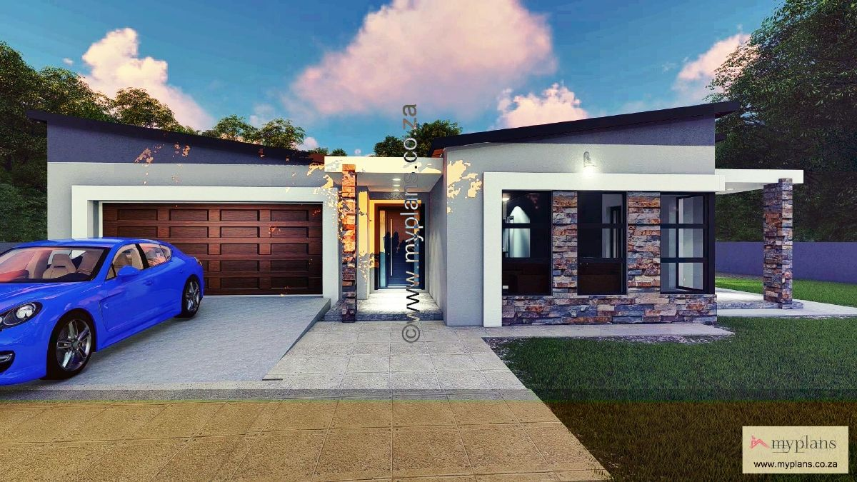 2 Bedroom House Plan Mlb 107 4s 2 Bedroom House Plans House Plans Cool House Designs