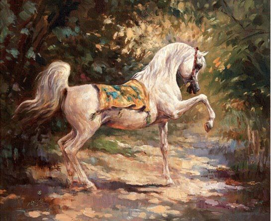 #Arabian #horse #painting #art   The horse in art ...