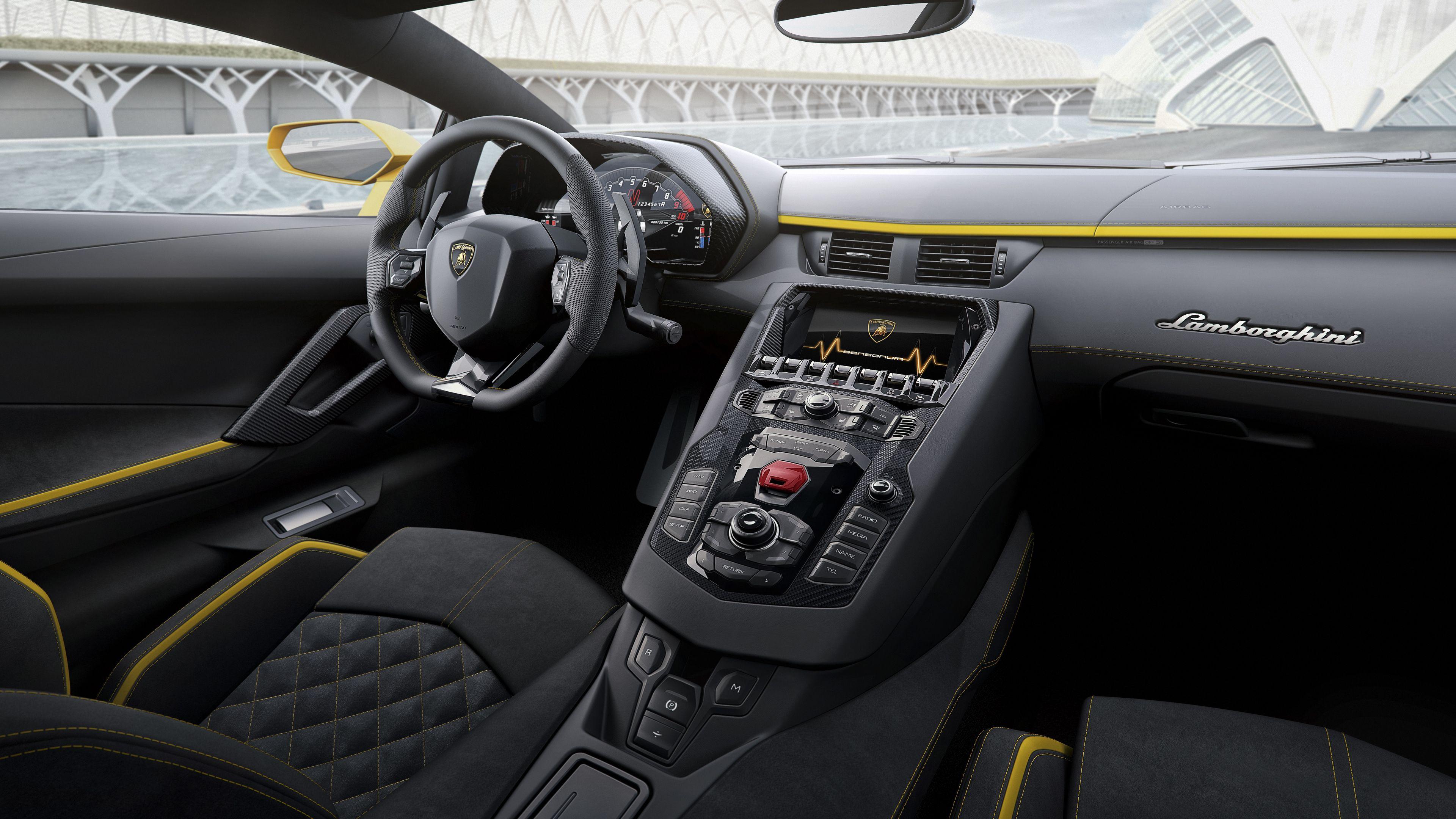 2017 Lamborghini Aventador S Interior 8k Lamborghini