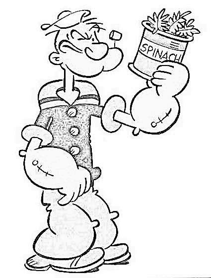 Popeye Coloring Pages Popeye El Marino Dibujos Materiales Didacticos