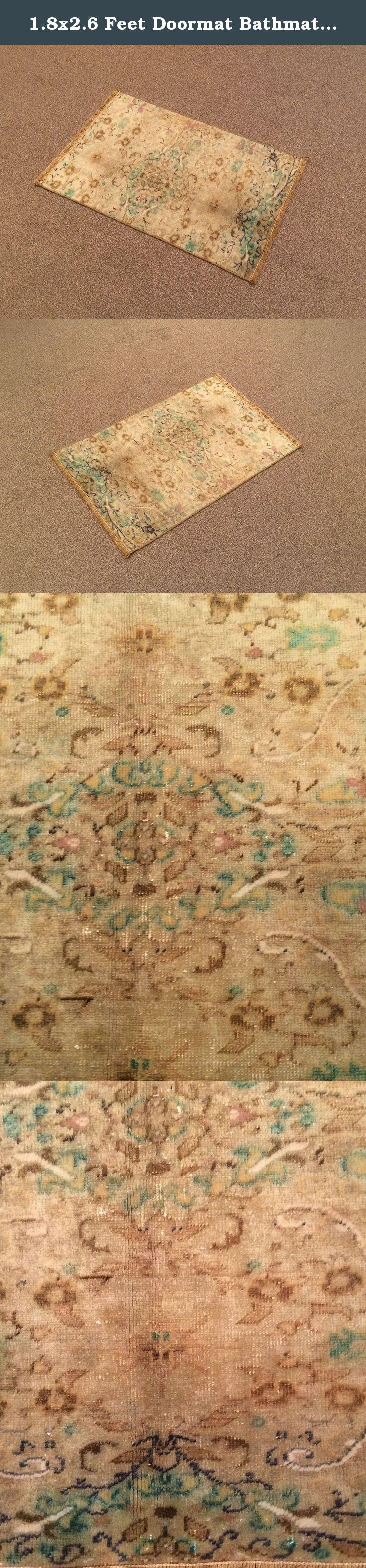 X feet doormat bathmat welcome mat floor mat vintage cream