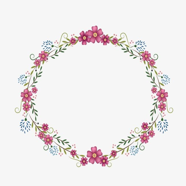 Round Pink Cherry Blossom Flower Bouquet Border Frame On Transparent Background Free I Flower Background Wallpaper Music Poster Design Cherry Blossom Flowers
