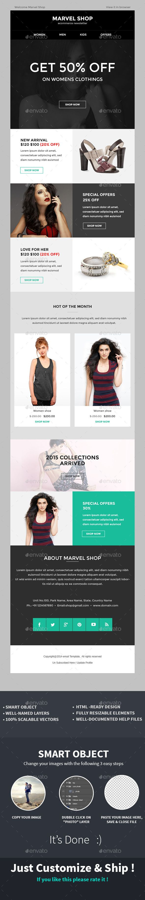 e commerce special offer newsletter psd template newsletter e commerce special offer newsletter template psd here