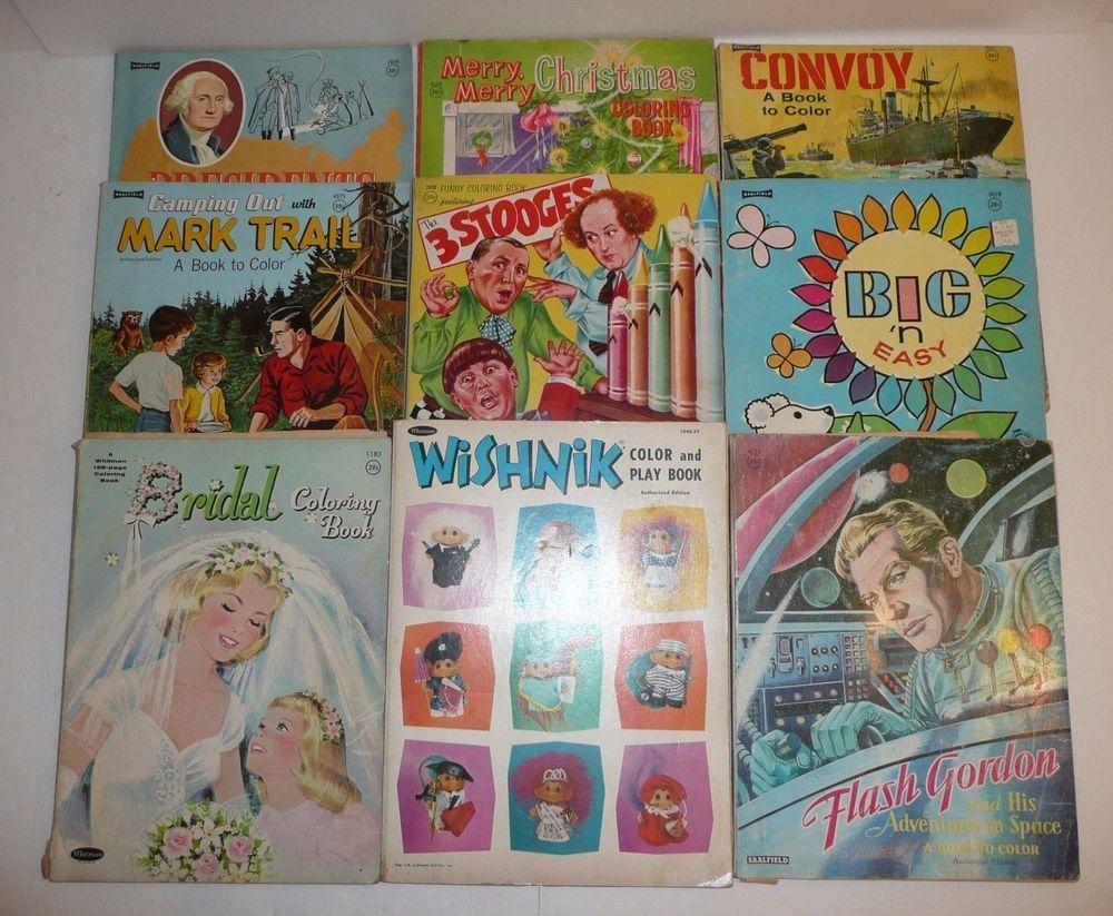Lot Of 9 Vtg Children S Coloring Books Flash Gordon Convoy War 3 Stooges Trolls Coloring Books Funny Coloring Book Flash Gordon