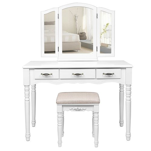 Dressing Table Set With Mirror Songmics