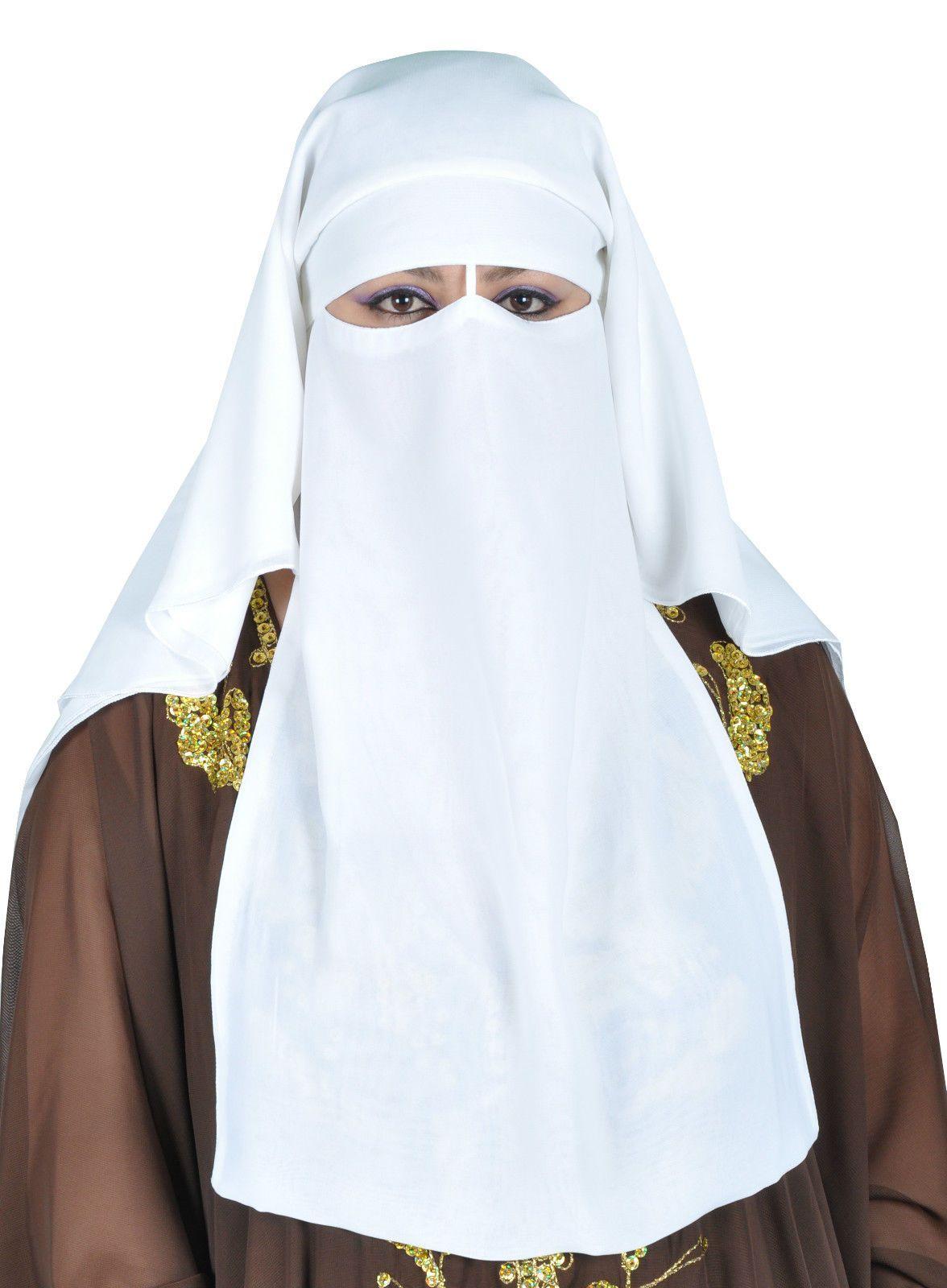 niqab dreilagig - hijab gesichtsschleier burka khimar