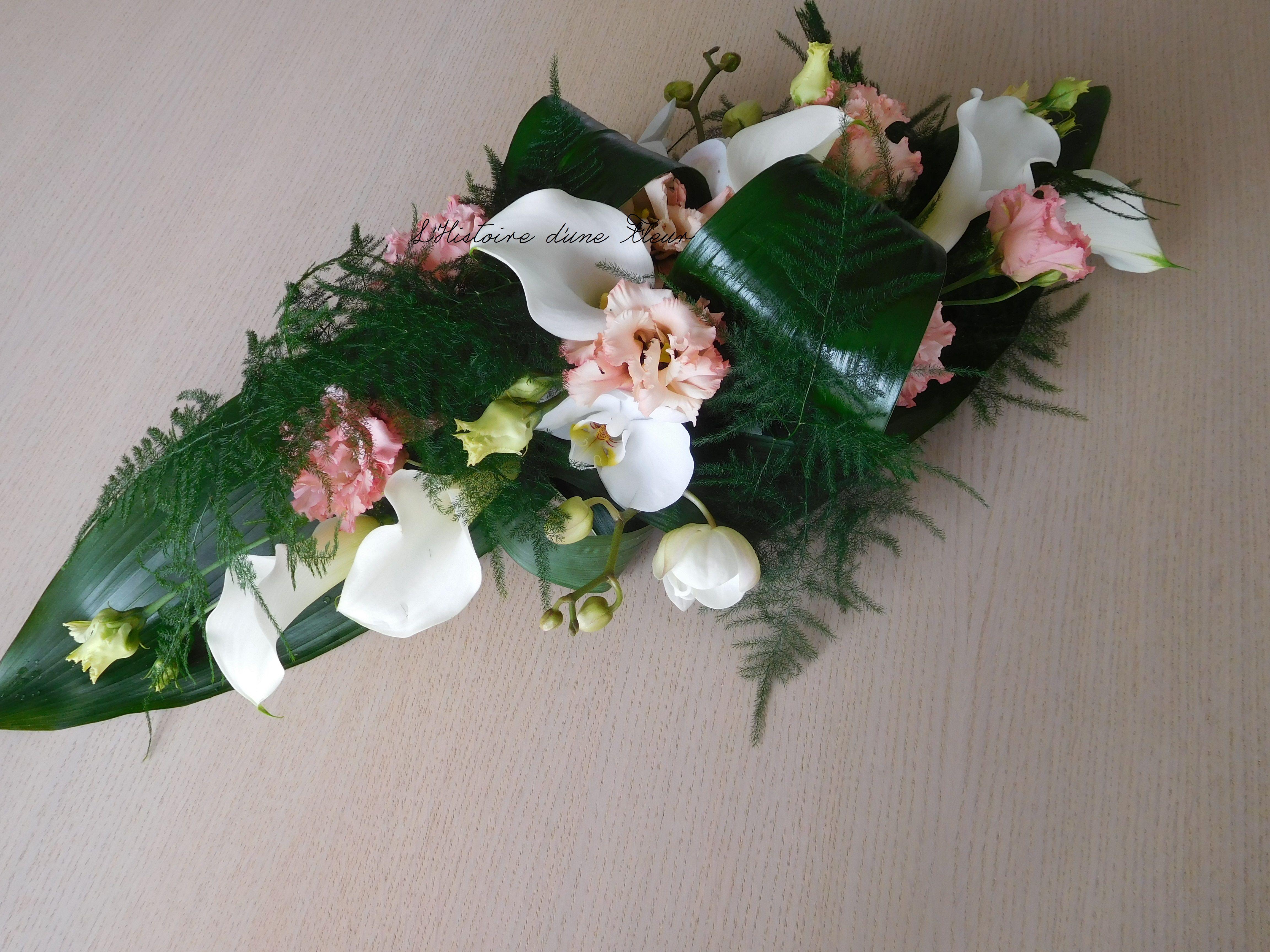 Centre De Table Allonge Peche Et Blanc Fleurs Fleuriste Centre