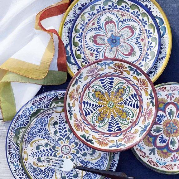 Veracruz Outdoor Melamine Dinner Plates Plates Dinnerware