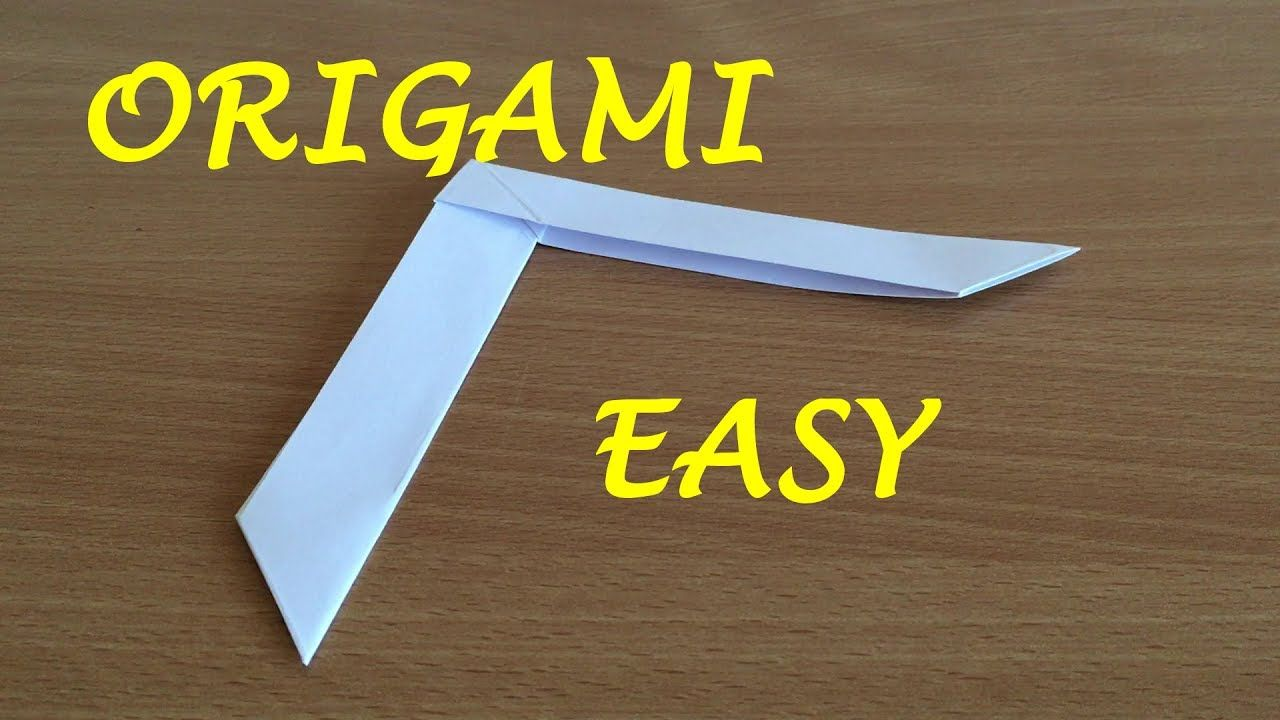 How to Make an Origami Boomerang Origami boomerang