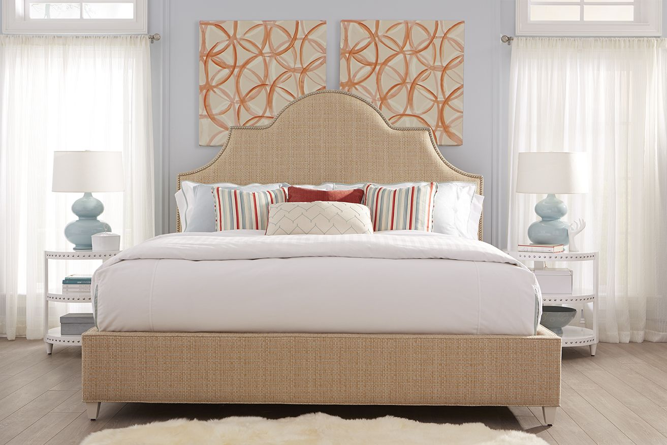 Master bedroom king bed Our Sedgefield King bed adds bold style and subtle color to this