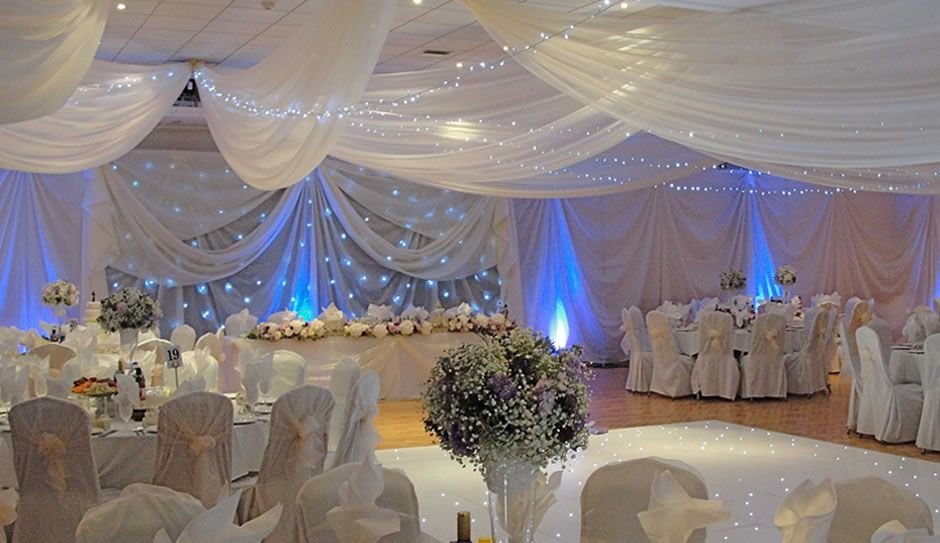 Ivory draping with blue lighting and star cloth misc ideas curtain drapes for weddings for centuries the color purple has been associated with royalty and nobility while the col junglespirit Choice Image