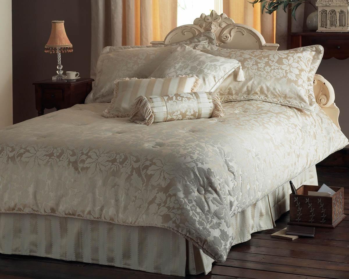 Cologne Duvet Set 7 Piece Cream Luxury Bedding Cheap Uk