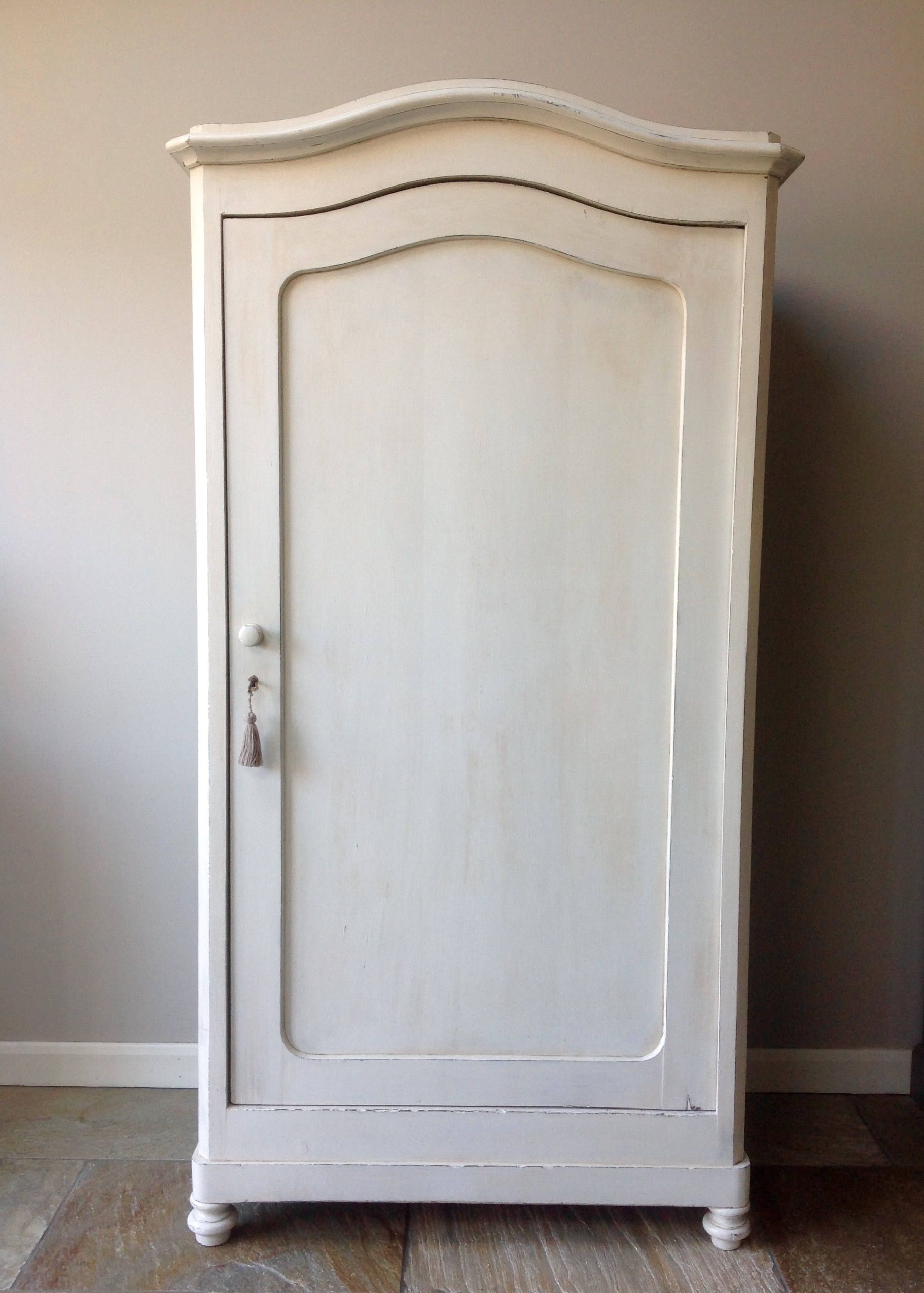 Charmant Antique French Painted Annie Sloan Old White Cream Armoire Wardrobe Hall  Housekeepers Cupboard Storage By ClyneCoFurniture