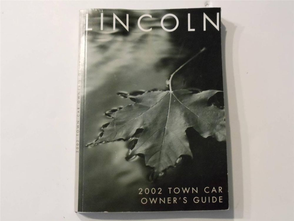 2002 lincoln town car owners manual