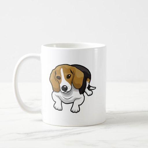 Cute Beagle Coffee Mug Zazzle Com Cute Beagles Mugs Decor