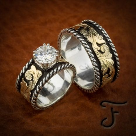western wedding rings sets wedding ideas pinterest western wedding rings and weddings - Western Wedding Rings