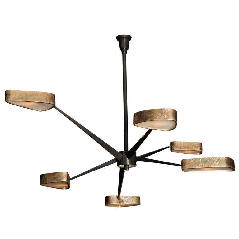 Contemporary Bronze and Onyx Spider Chandelier by Achille – Onyx Chandelier