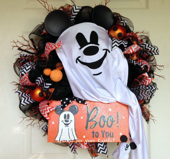 Mickey Mouse Halloween Ghost Deco Mesh by SparkleForYourCastle