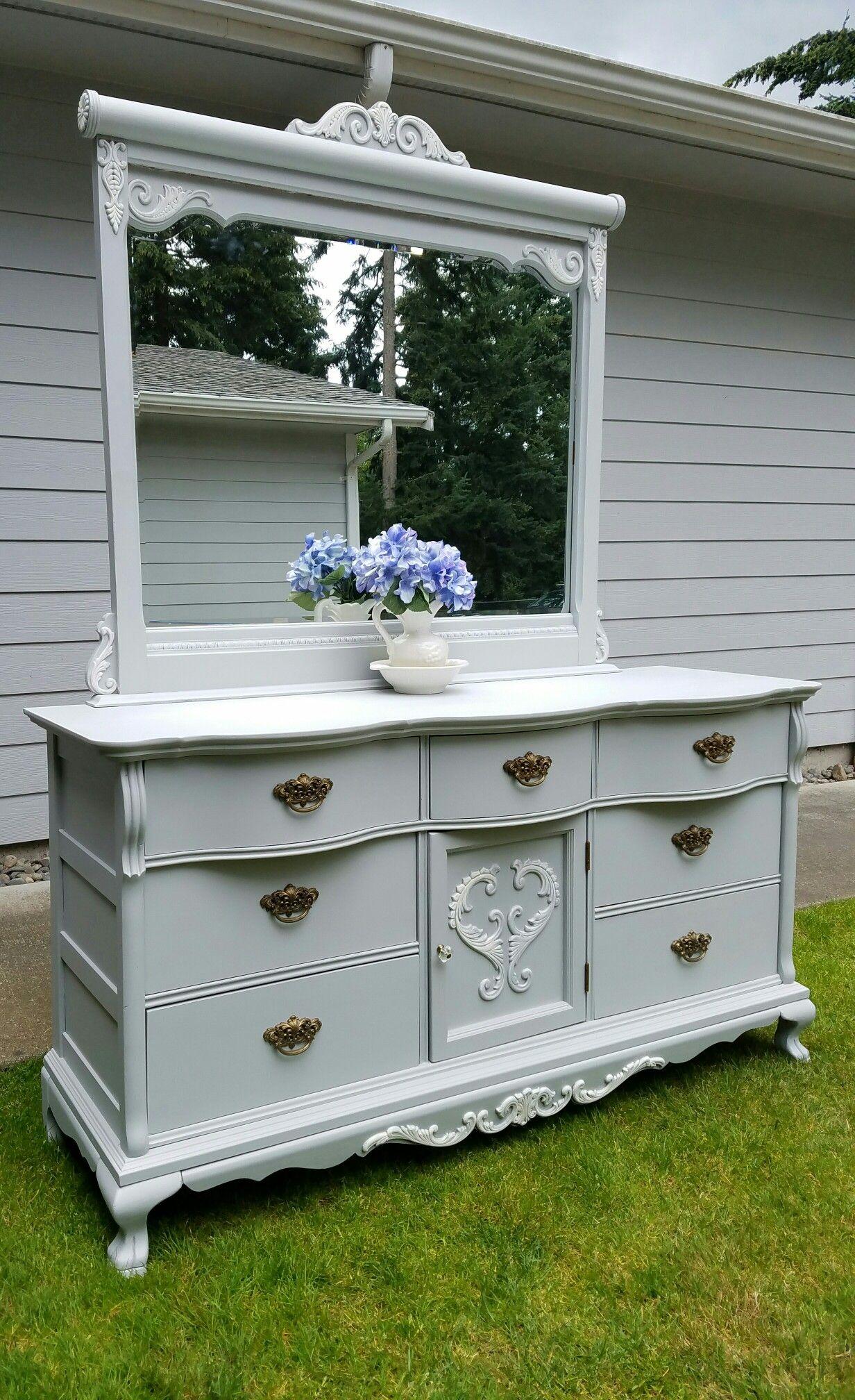 Lexington Victorian Sampler Collection Triple Dresser Fusion Mineral Paint Pebbles Anni Painting Furniture Diy Shabby Chic Paint Colours Painted Furniture