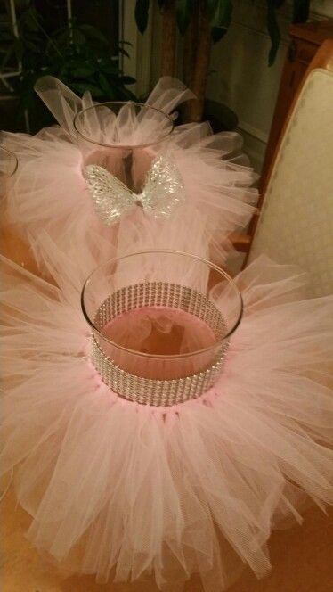 Nice Tutu Centerpieces, Add A Flower Arrangement