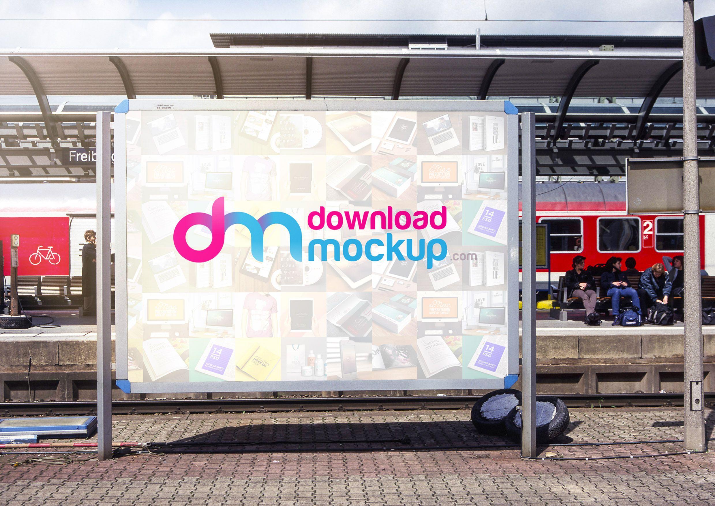 Nice Outdoor Billboard Mockup Free PSD. Download Outdoor Billboard ...