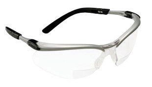 3M BX 2.0 Diopter Safety Glasses With Silver Black Nylon Frame And Clear Polycarbonate Anti-Fog Lens