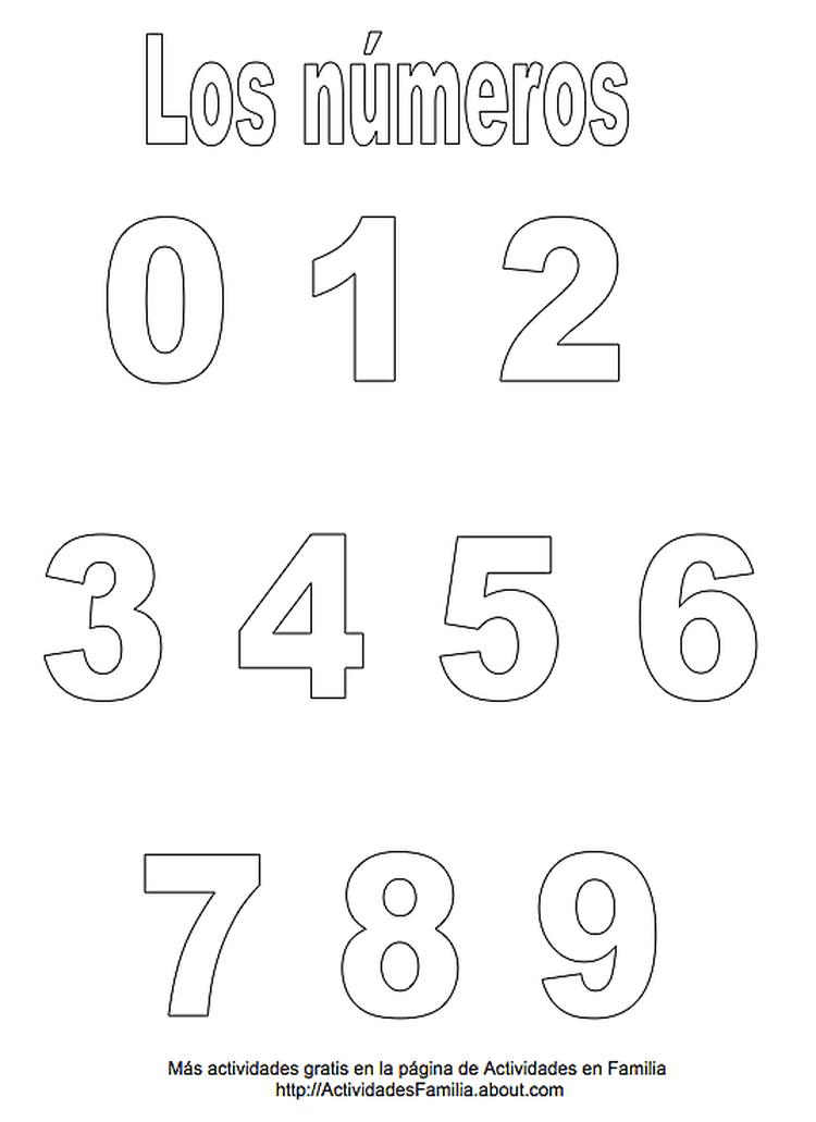 Números para imprimir | plantilla de numeros y letras | Pinterest ...