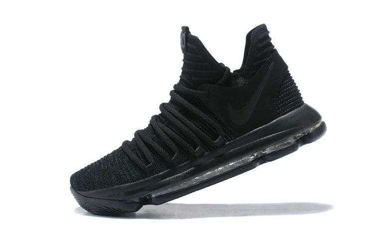 c4192ef95f5 Nike Zoom KD X 10 Triple Black 2018 Mens Basketball Shoes 897815-004 ...