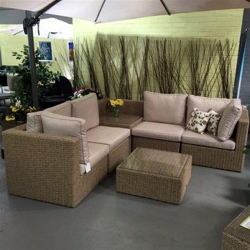 Leisuregrow Saigon Rattan Corner Sofa With Cushion Storage. Leisuregrow Saigon Rattan Corner Sofa With Cushion Storage