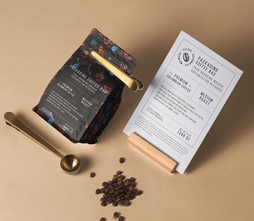 Coffee Bag Packaging Mockup Mockups Free Psd Templates Packaging Mockup Bag Packaging Coffee Packaging