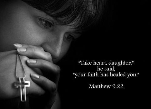 Healed by faith †