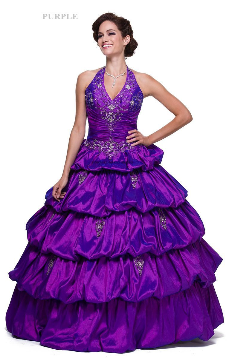 Pageant ball gown prom formal masquerade military quinceanera dress ...