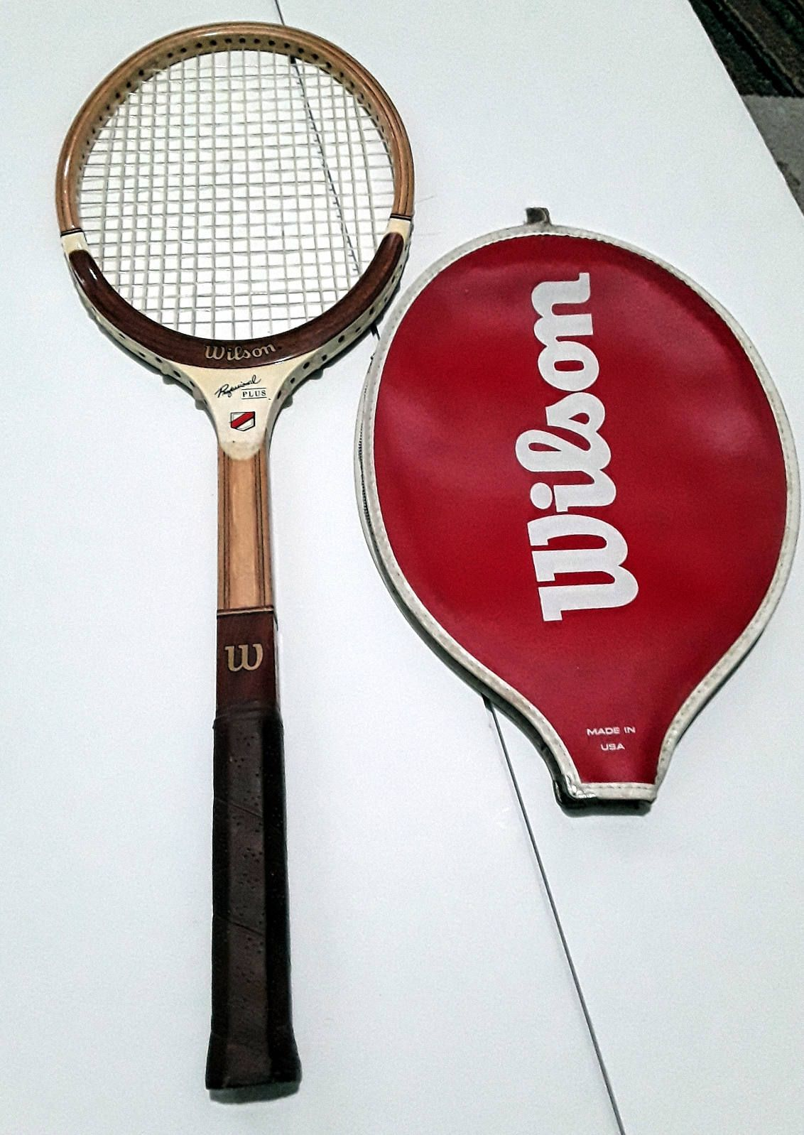 Vintage Wilson Professional Plus Wood Tennis Racquet 60s With Racquets Tennis Racquet Tennis