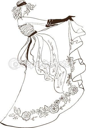 SKETCH. fashion girl. Hand-drawn fashion model — Векторная иллюстрация Uliana Gureeva