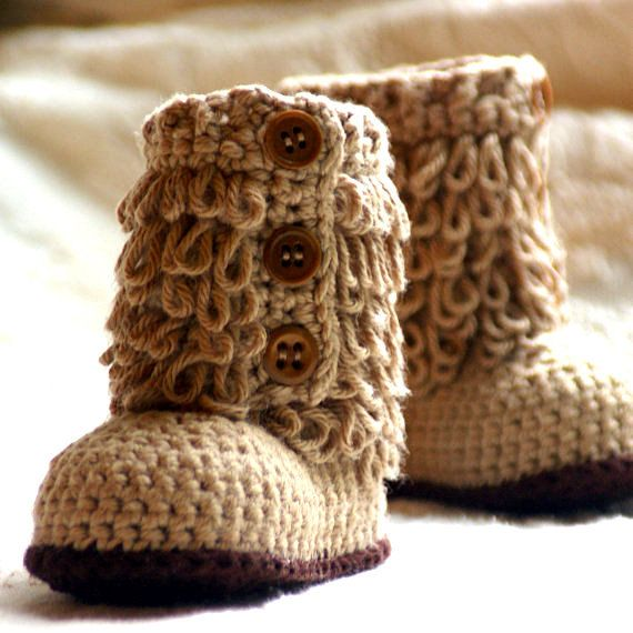 Baby Boots Crochet Pattern Furrylicious by TwoGirlsPatterns, $5.50 ...