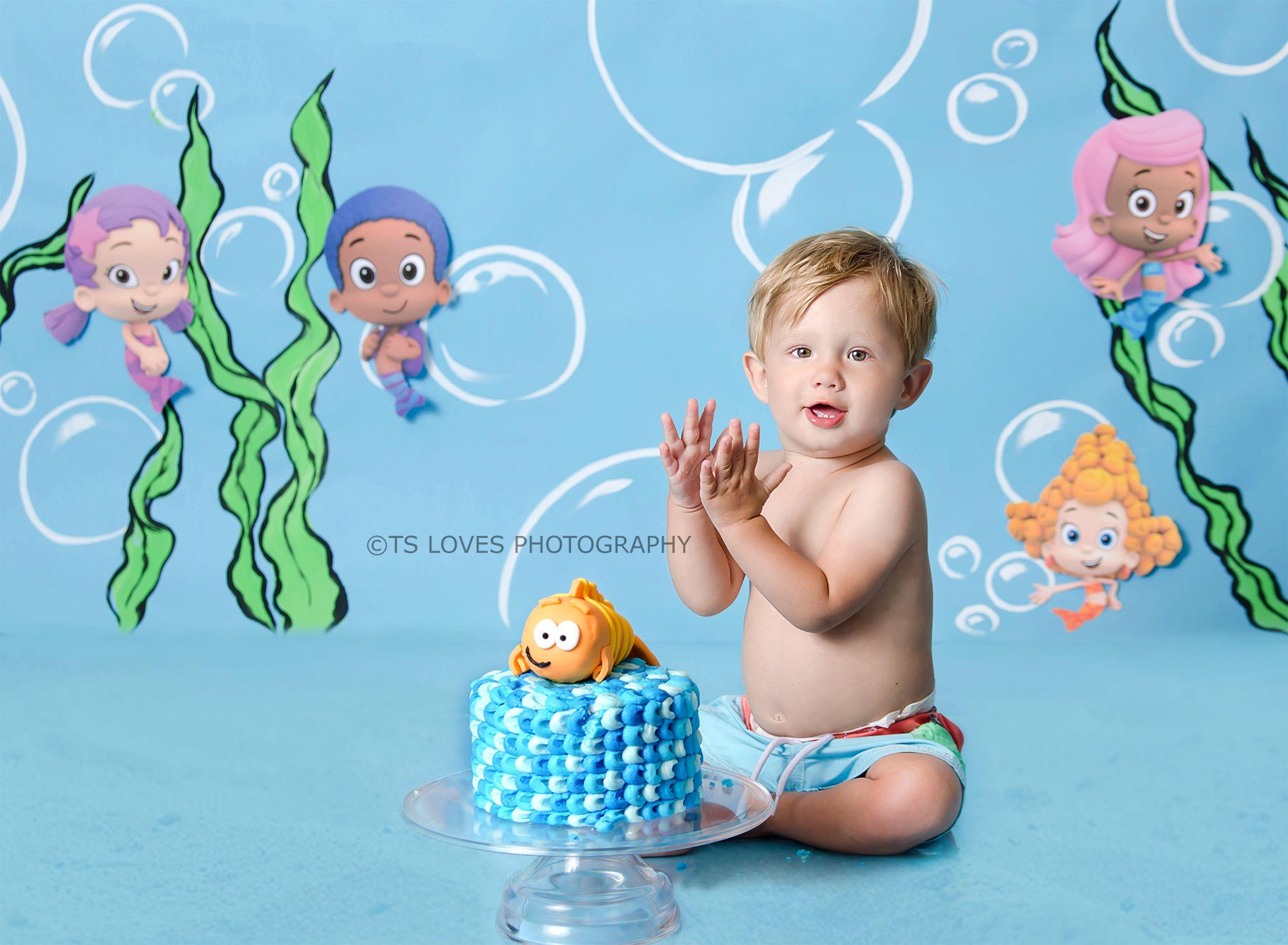 Bubble Guppies Birthday, Bubble Guppies, Cake Smash, Underwater ...