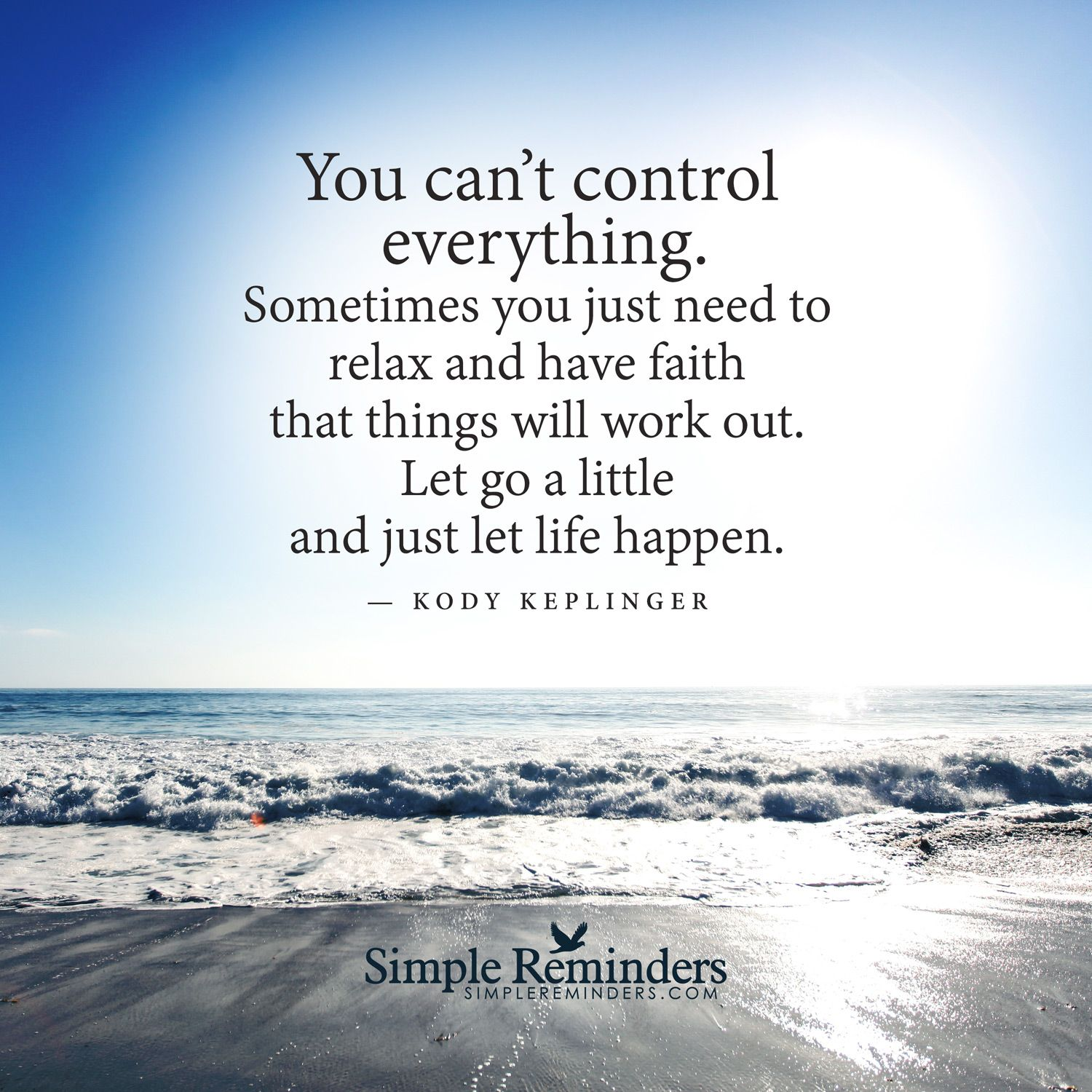 Inspirational Life Quotes And Sayings You Can T Control: You Cannot Control Everything By Kody Keplinger