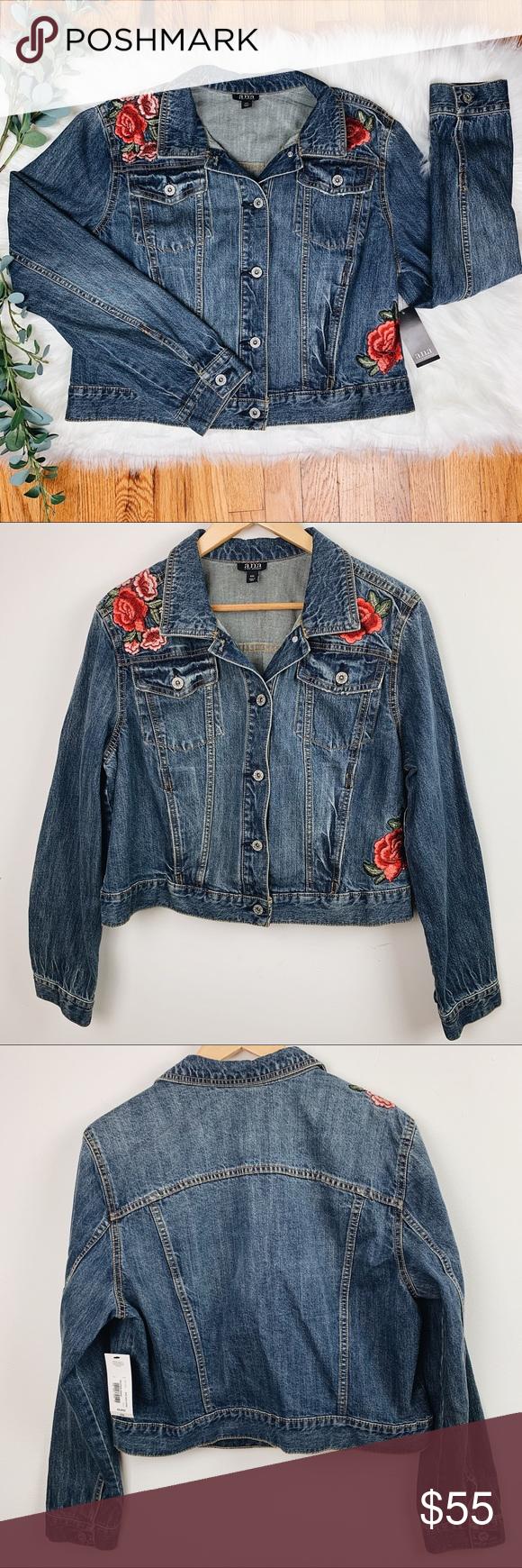 A N A Jean Jacket W Rose Embroidery Xxl Perfect Jeans Ana Jeans Fashion [ 1740 x 580 Pixel ]