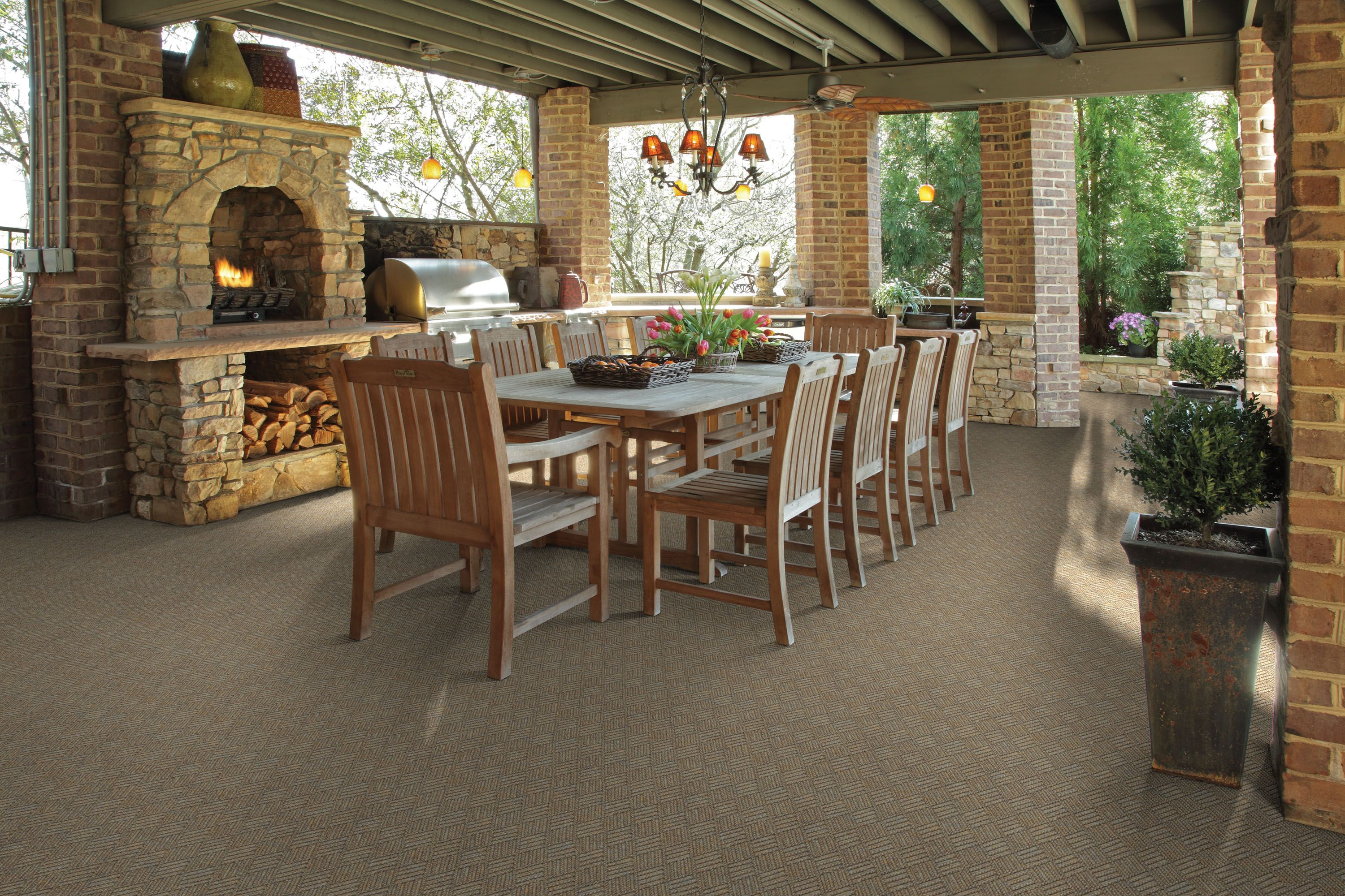 Attractive Indoor Outdoor Carpet for Home Decor Screened In Porch