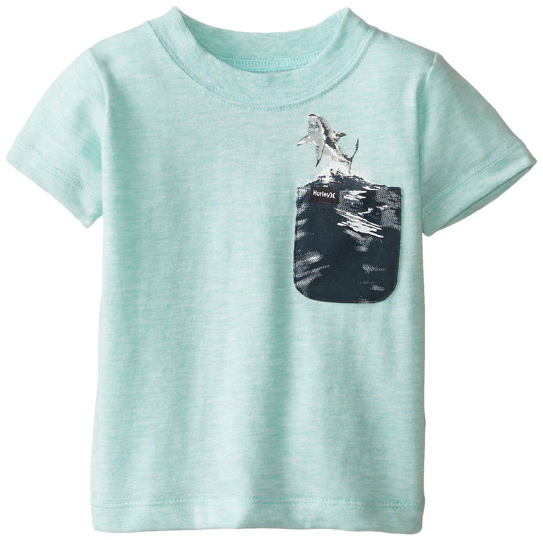 Amazon Hurley Baby Boys Basic Pocket Tee Artisan Teal Heather
