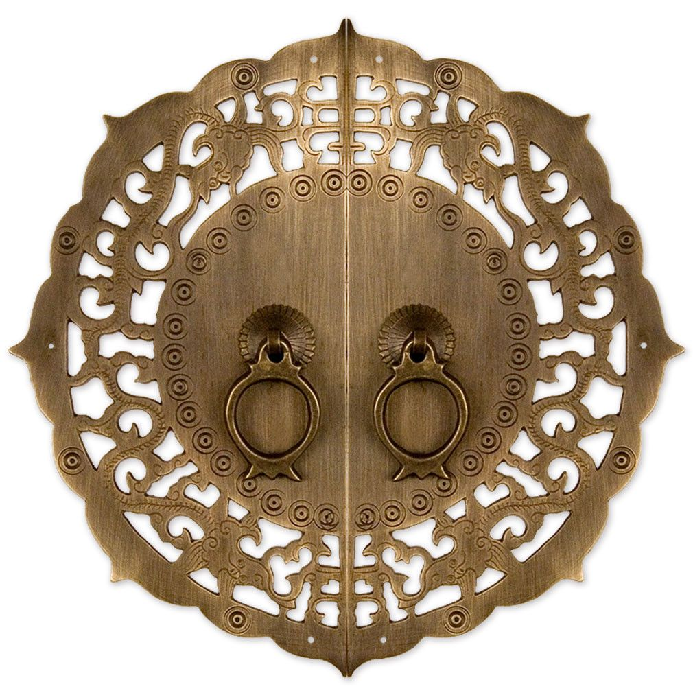 flowering lotus cabinet face plate 9 7 8 chinese brass hardware flowering lotus cabinet face plate all