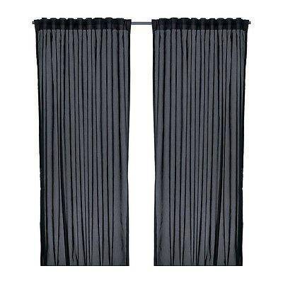 Verdunkelungsvorhang Ikea ikea vivan gardinenpaar in schwarz 145x300cm vorhang vorhänge