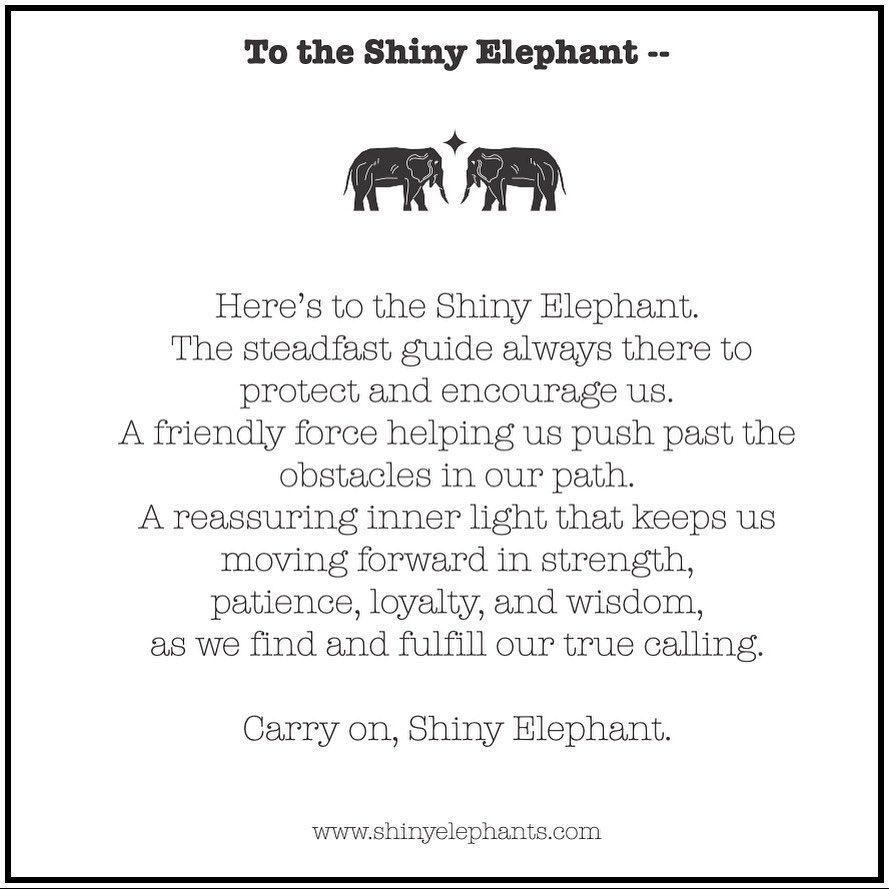 Origin and Tribute to Shiny Elephants i 20