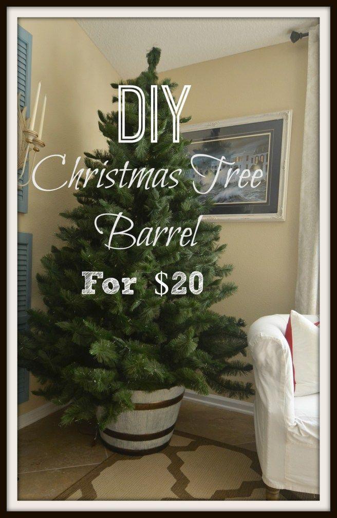 Diy Christmas Tree Barrel Stand Diy Christmas Tree Christmas Diy Christmas Tree Stand Diy