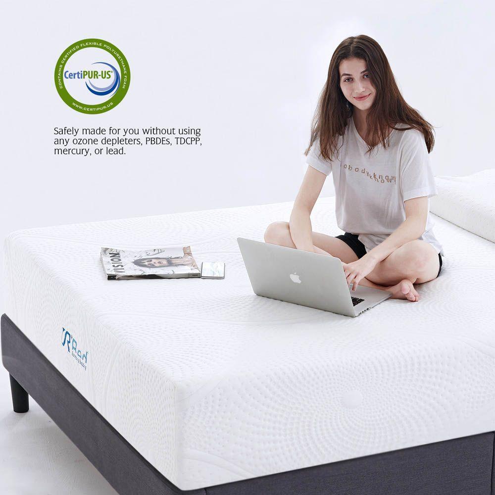 Sunrising Bedding 12 Inch Cool Gel Memory Foam Twin Mattress Firm