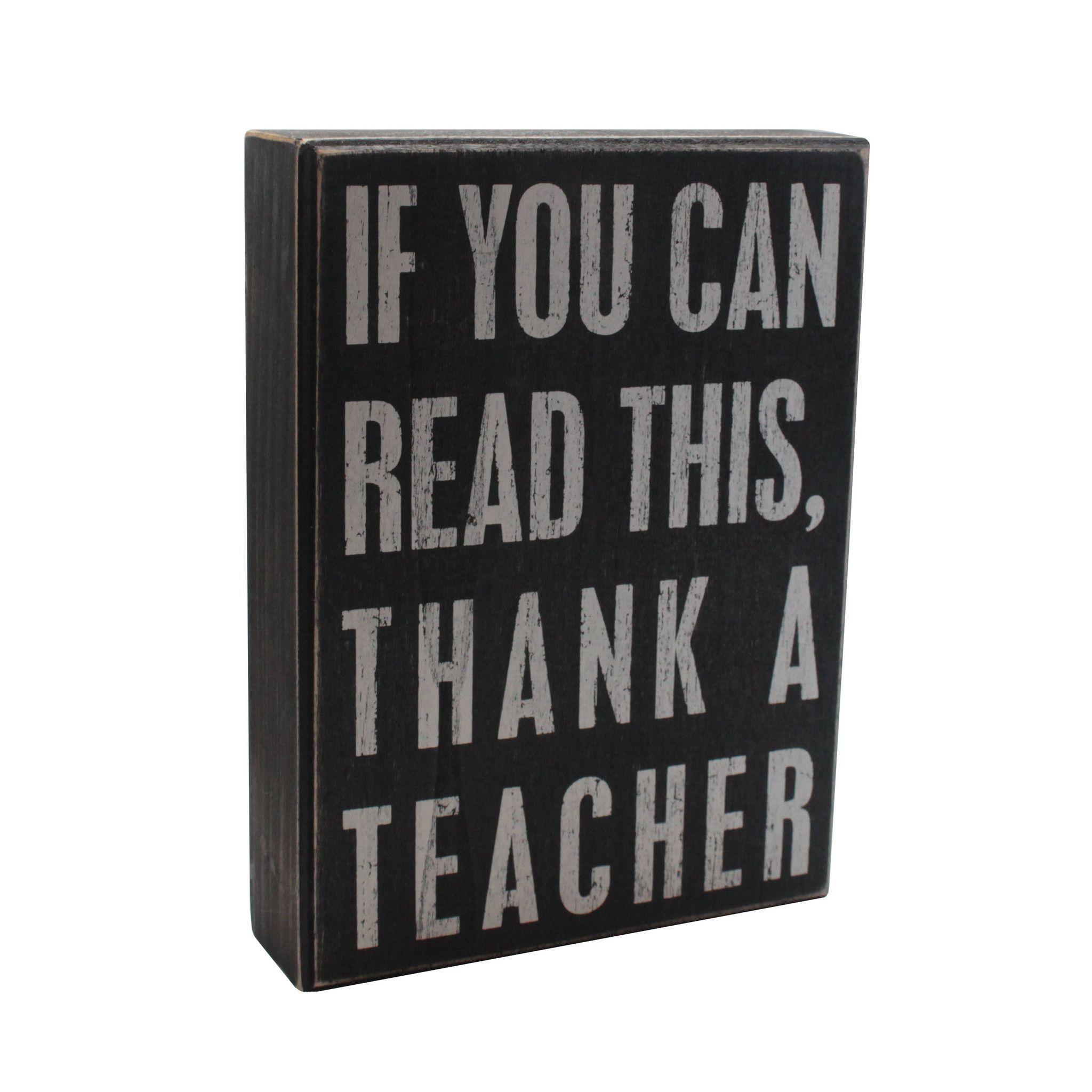 Thank a Teacher Box Sign