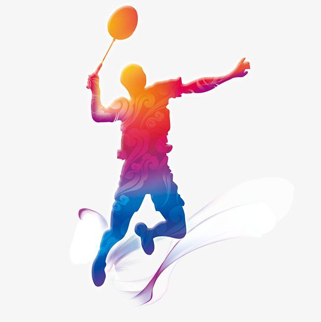Joueur De Badminton Volant De Badminton Athlete Jouer Fichier Png Et Psd Pour Le Telechargement Libre Olahraga Desain Logo