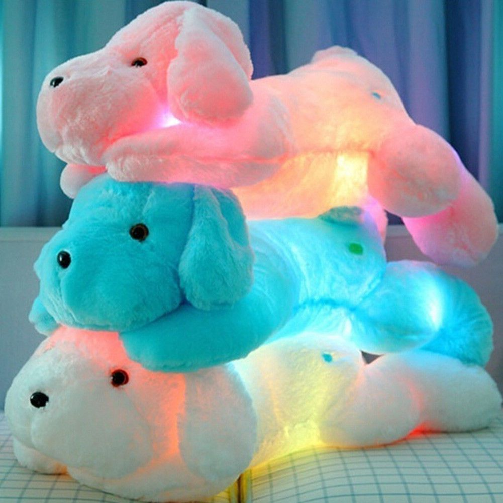 Plush Doll Soft Toy Light Up Led Animal Cute Dog Baby Kids Toys